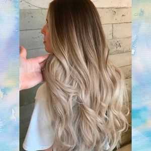 VP Fashon Ombre Blonde Human Hair Extensions